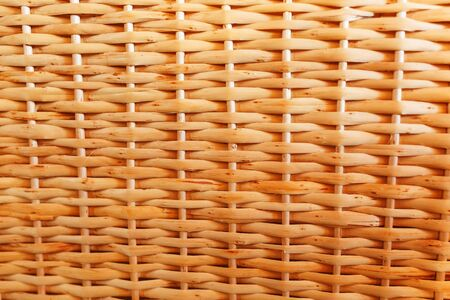 Texture of handmade wicker furniture, products and souvenirs at the street craft market. Close-up, background, substrate
