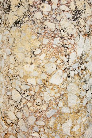 Antique pink marble with cracks, stone texture background, Full screen. The ruins of ancient antiquity