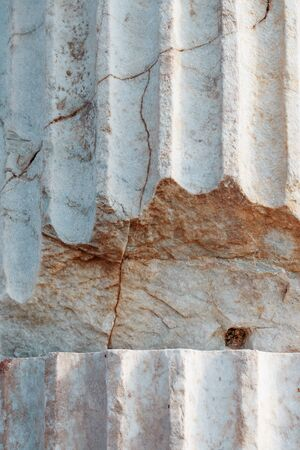 The texture of the columns of ancient antiquity in full screen. As a background, texture, substrate