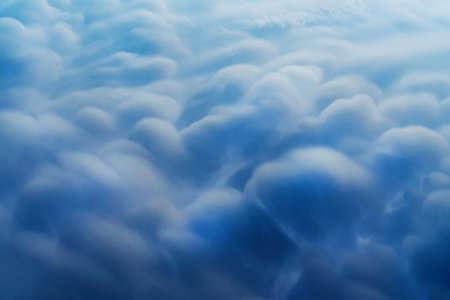 Blue Cumulus clouds, a rare atmospheric phenomenon. 版權商用圖片
