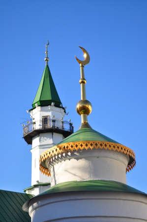 minarets: Kazan Minarets Against Clear Blue Sky