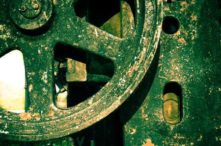 outworn: part of old rusty machine Stock Photo