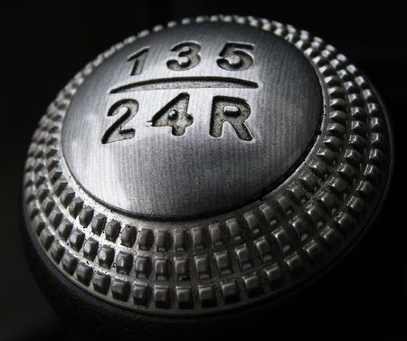 car gear shift leaver. photo