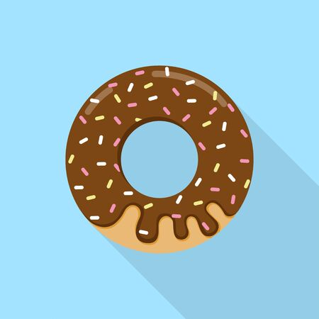 Chocolate donuts modern flat design