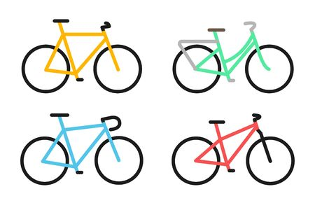 full color bicycle icon. Vector illustration
