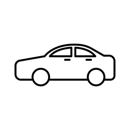 Car icon set vector line