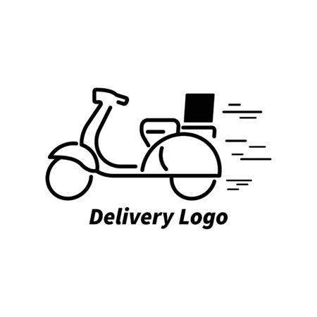 Delivery & Courier Motorbike Logo. Icon & Symbol Vector Template. Иллюстрация