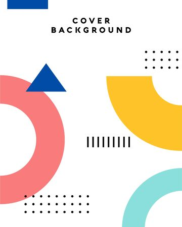 Memphis cover design vector illustration, geometric background. Applicable for Banners, Placards, Posters, Flyers. Vektoros illusztráció