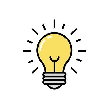Light line icon. Vector illustration Vetores