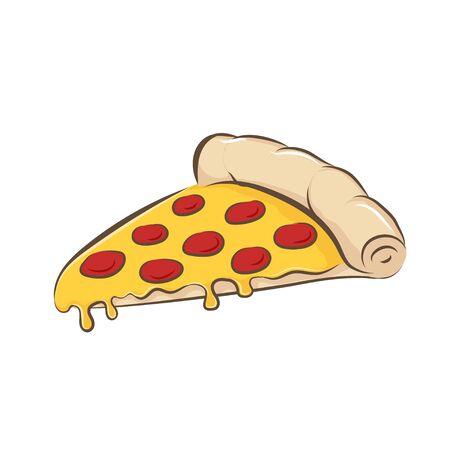 Art d'illustration vectorielle de pizza. Conception graphique