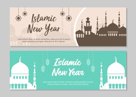 Islamic banners. Islamic new year. Vector Illustration