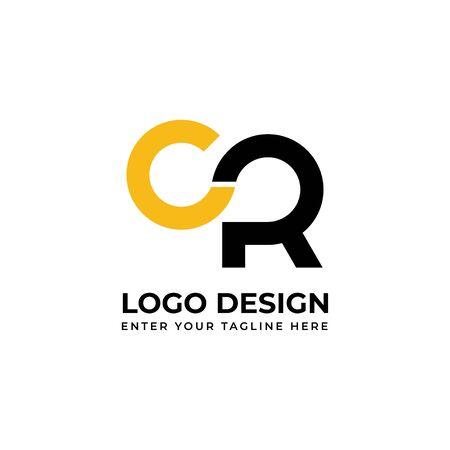Alphabet logo CR. Font logo design. Logó