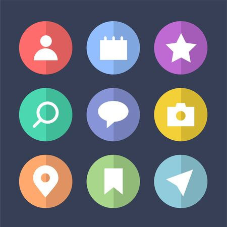 Icon set vector for your website, mobile apps and others Vectores
