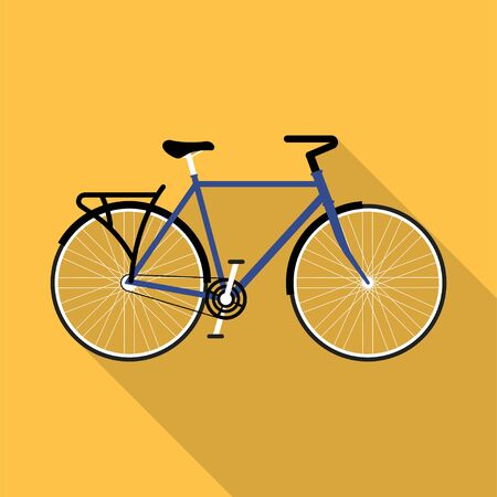 bicycle flat design concept with shadow background vector