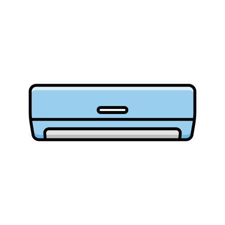 Air conditioner vector icon. Flat design