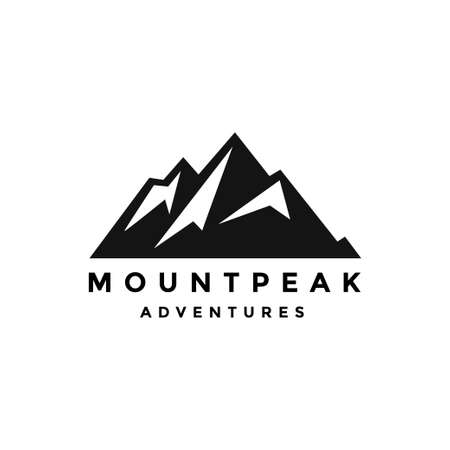 Mountain  emblem mount vector Ilustração