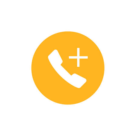 Telephone icon vector on white background
