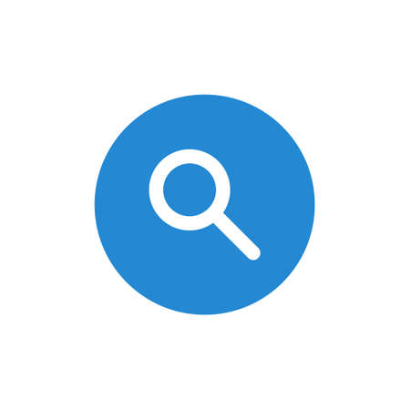 magnifying glass icon vector on white background