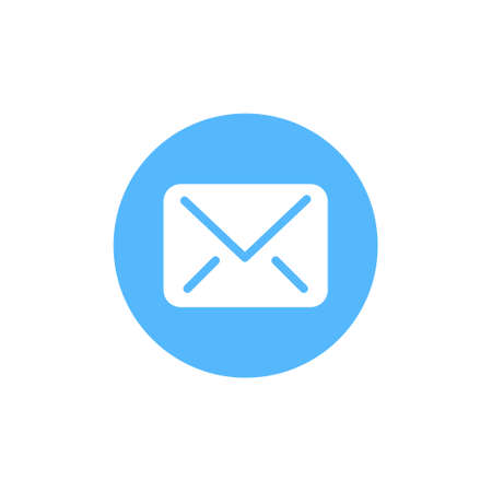 Message icon vector on white background