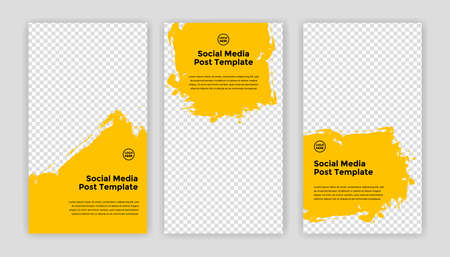 Modern Social Media banner template can be edited. Anyone can use this design easily. Promotional web banners for social media. Elegant sale and discount promo - Vector. Banco de Imagens - 153516135