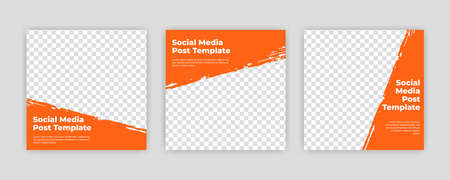 Modern Social Media banner template can be edited. Anyone can use this design easily. Promotional web banners for social media. Elegant sale and discount promo - Vector. Banco de Imagens - 153516137