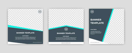 Modern Social Media banner template can be edited. Anyone can use this design easily. Promotional web banners for social media. Elegant sale and discount promo - Vector. Banco de Imagens - 154069019
