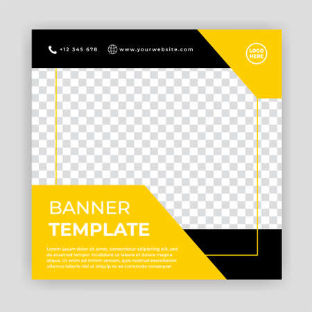 Modern Social Media banner template can be edited. Anyone can use this design easily. Promotional web banners for social media. Elegant sale and discount promo - Vector. Banco de Imagens - 154069013