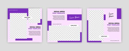 Modern Social Media banner template can be edited. Anyone can use this design easily. Promotional web banners for social media. Elegant sale and discount promo - Vector. Banco de Imagens - 154073365