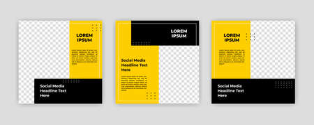 Modern Social Media banner template can be edited. Anyone can use this design easily. Promotional web banners for social media. Elegant sale and discount promo - Vector. Banco de Imagens - 154073367