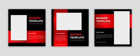 Unique Modern Editable Social Media banner template. Anyone can use this Easy Design Promotion web banner for social media. Modern elegant sales and discount promotions - Vector. Banco de Imagens - 154070366