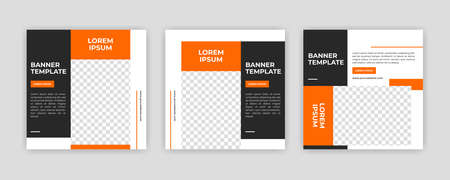 Unique Modern Editable Social Media banner template. Anyone can use this Easy Design Promotion web banner for social media. Modern elegant sales and discount promotions - Vector. Banco de Imagens - 154070380