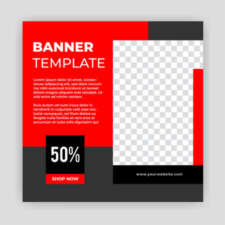 Unique Modern Editable Social Media banner template. Anyone can use this Easy Design Promotion web banner for social media. Modern elegant sales and discount promotions - Vector. Banco de Imagens - 154493807