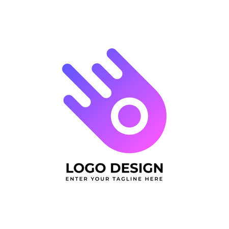 Abstract logo. Minimalistic logo design. Creative logo. Beautiful and simple element. Banco de Imagens - 154493817