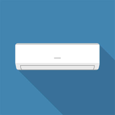 Air conditioner flat design icon. Vector illustration