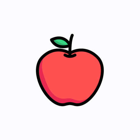 Apple fruit icon vector design illustration