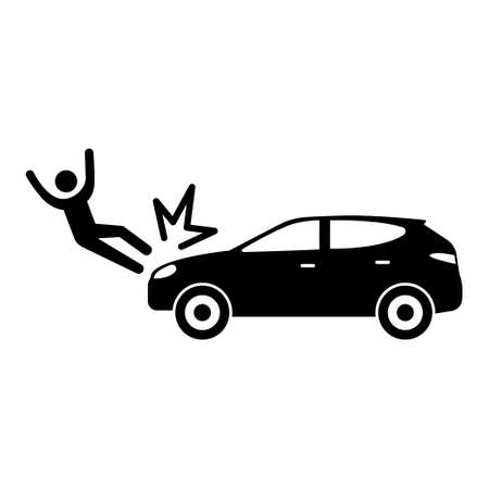 Car crash icon vector illustration Banco de Imagens - 154810653