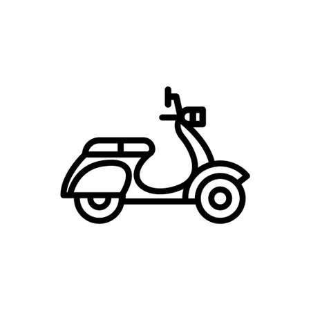 Scooter icon with line style. Vector illustration Ilustração