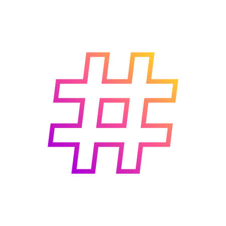 Colorful hashtag icon vector illustration