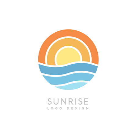 Sunrise creative icon vector for business