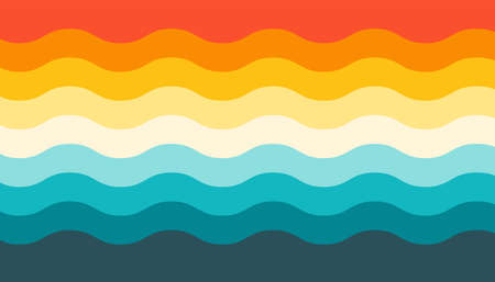 Colorful wavy line pattern vector background