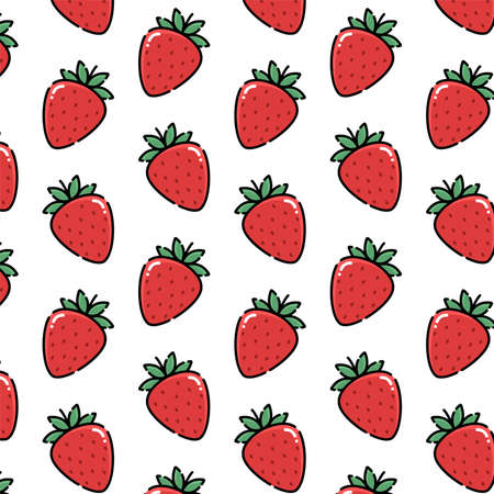 Pattern of strawberry vector illustration