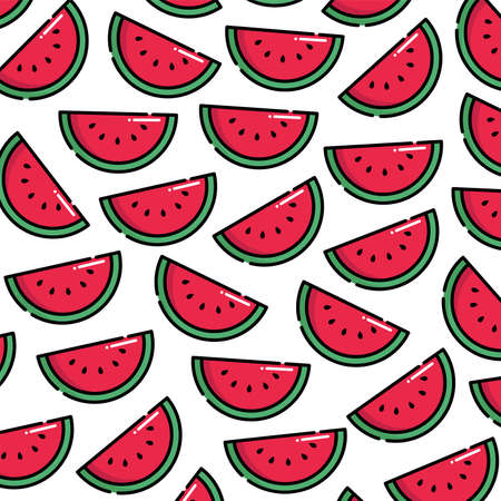 Pattern of watermelon vector illustration