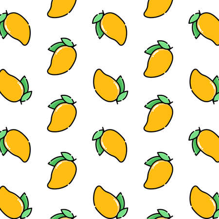 Pattern of mango vector illustration