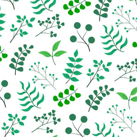 Plant with leaves pattern. Vector Illustration
