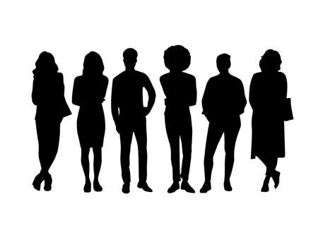 Adult people silhouettes background vector