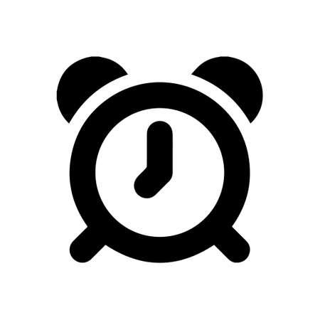 Alarm clock vector icon on white background