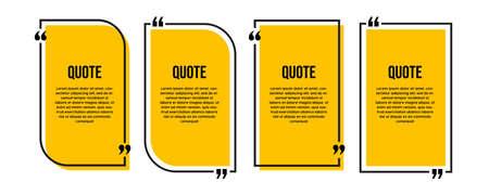 Quote text bubble. commas, note, message and comment. Vector Illustration Ilustração