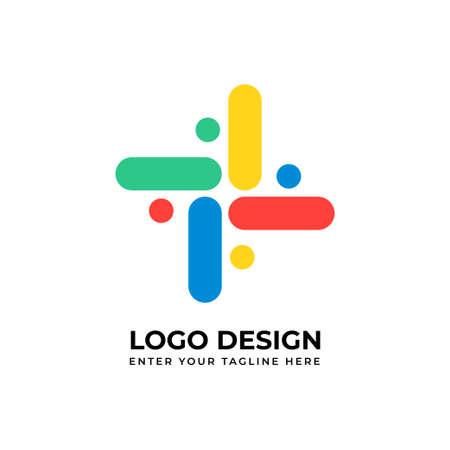 Company logo vector image for business Ilustração