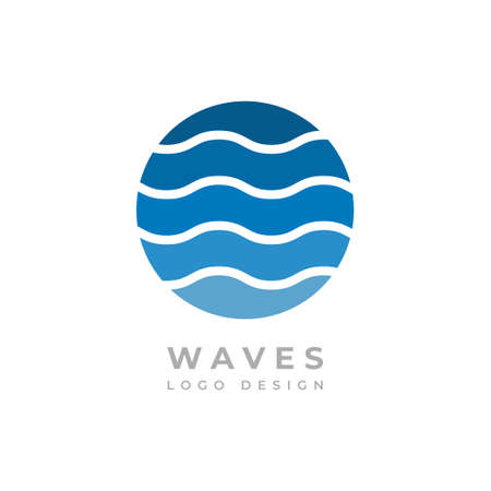 Waves logo, Graphic design logo, Logo design creative