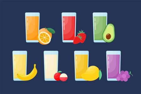 Fresh fruit juice design. Vector Illustration